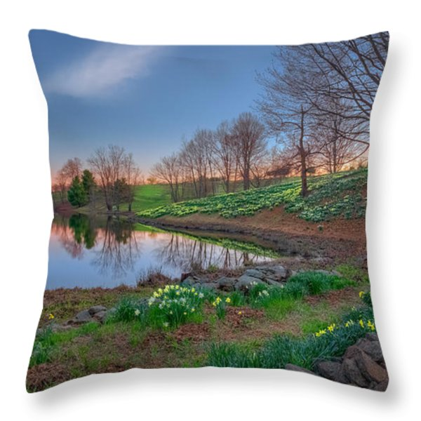 Laurel Ridge Sunset Throw Pillow by Bill  Wakeley