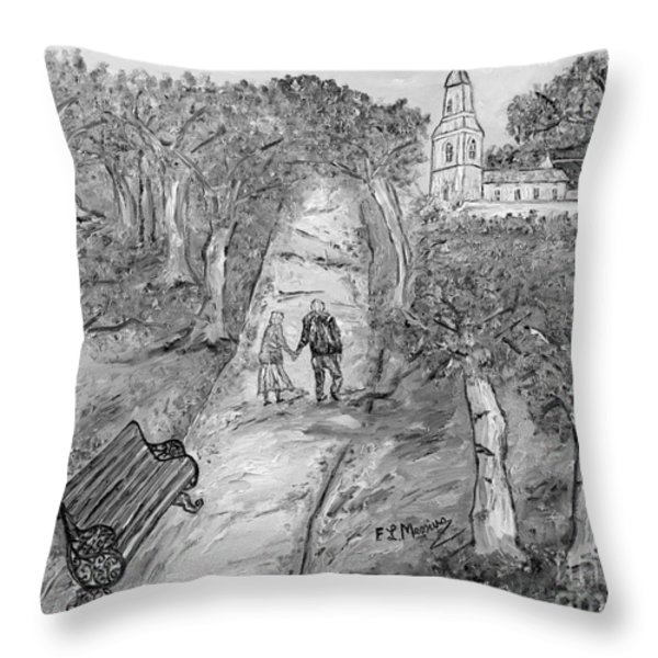 L'autunno della vita Throw Pillow by Loredana Messina