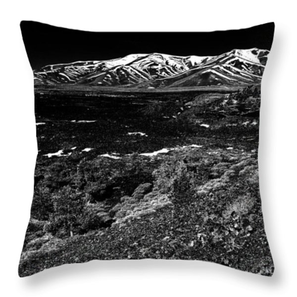 Lavascape Throw Pillow by Benjamin Yeager