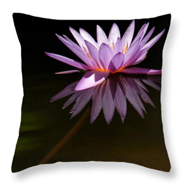 Lavendar Reflections Throw Pillow by Sabrina L Ryan