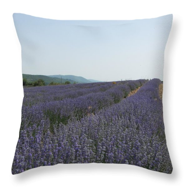 Lavender Sky Throw Pillow by Pema Hou