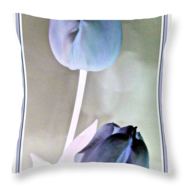 Lavender Tulips Throw Pillow by Danielle  Parent