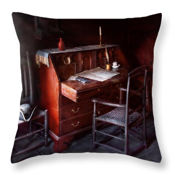 Lawyer - Writer - Where law began Throw Pillow by Mike Savad