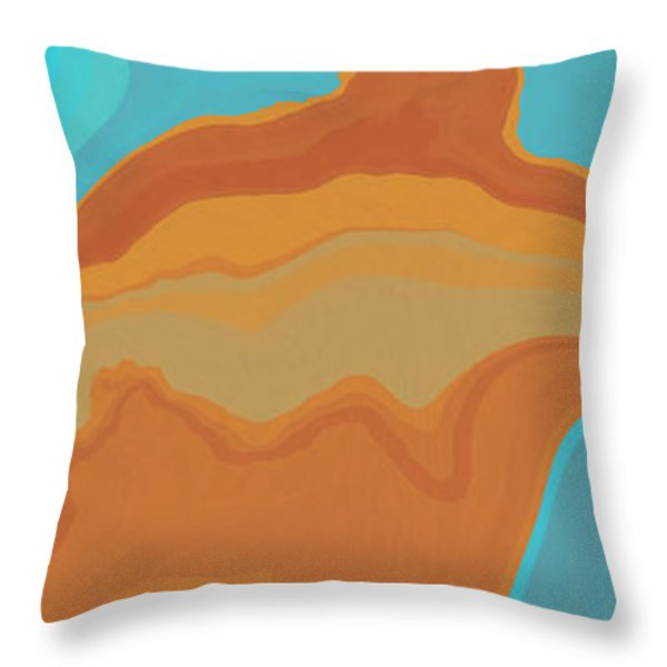 Layers And Form Throw Pillow by David G Paul