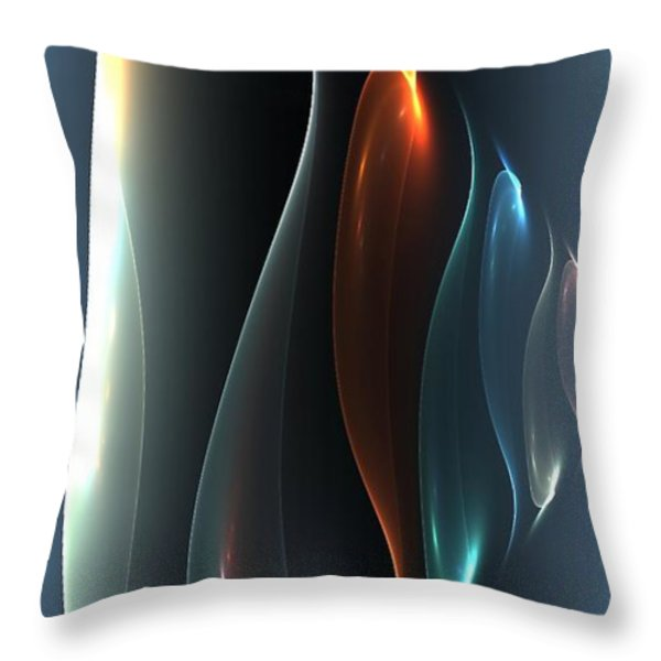 Layers Throw Pillow by Greg Moores