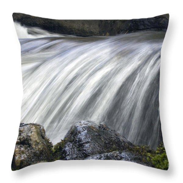 Lazerne Falls Cascade Throw Pillow by Darleen Stry