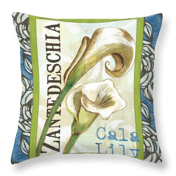 Lazy Daisy Lily 1 Throw Pillow by Debbie DeWitt