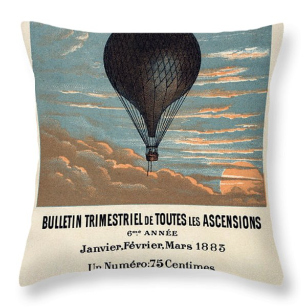 Le Ballon advertising for French aeronautical journal Throw Pillow by Nomad Art And  Design