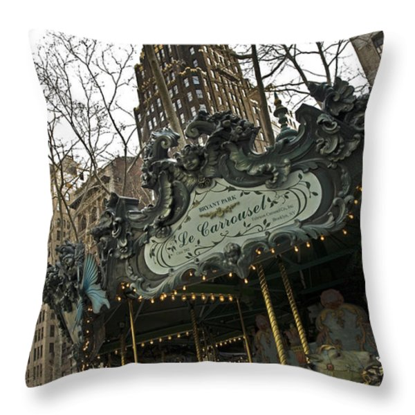Le Carrousel Throw Pillow by Alida Thorpe