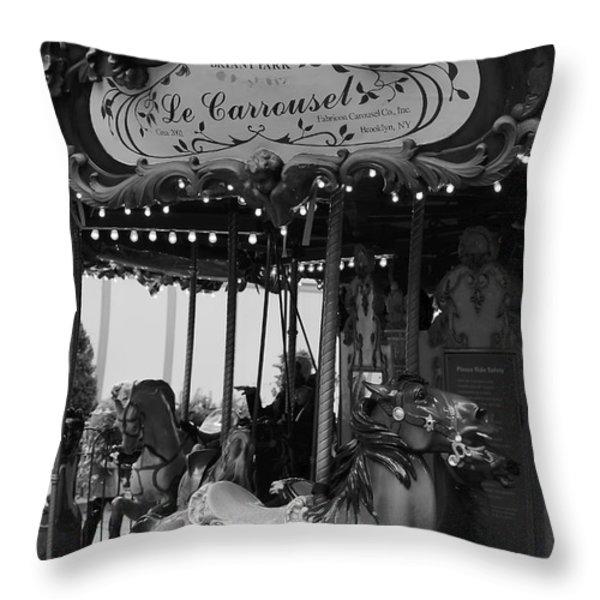 Le Carrousel Throw Pillow by David Rucker