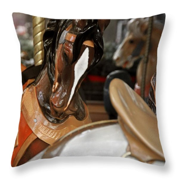 LE CARROUSEL Throw Pillow by JAMART Photography