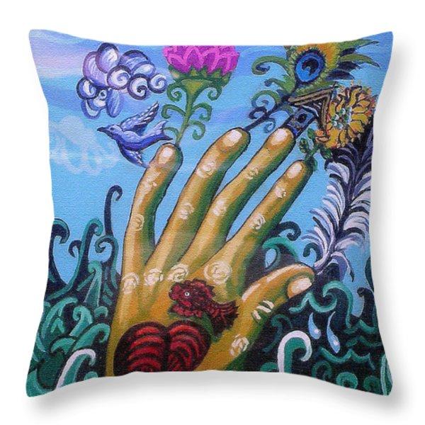 Le Destin Du Humain Throw Pillow by Genevieve Esson