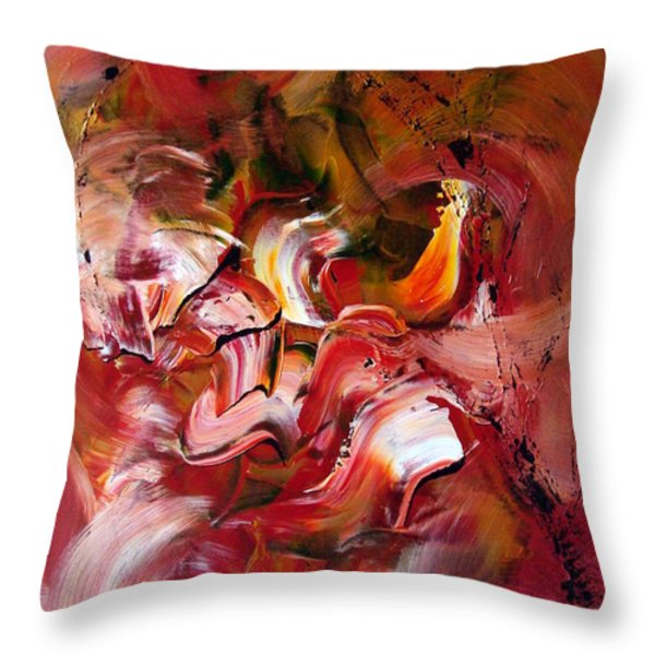 Le Jardin Extraordinaire Throw Pillow by Isabelle Vobmann