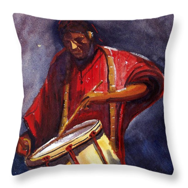 Le Joueur De Tambour  The Drum Player Throw Pillow by Dominique Serusier