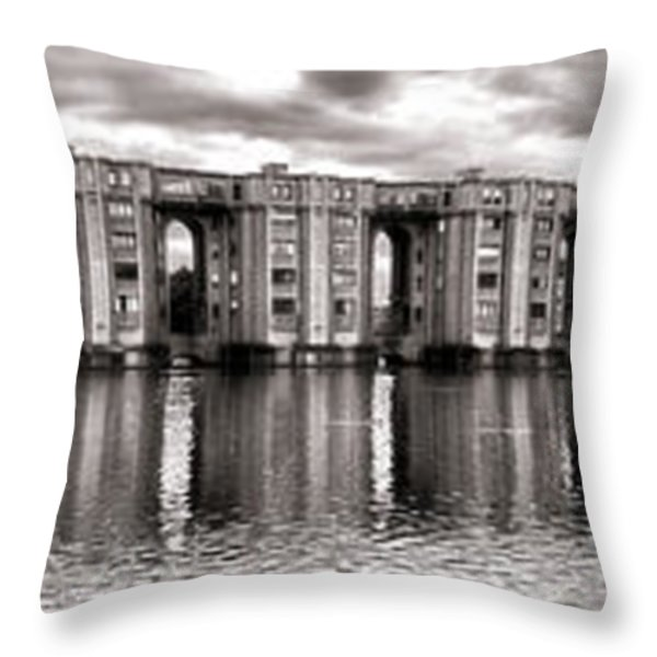 Le Viaduc Throw Pillow by Olivier Le Queinec