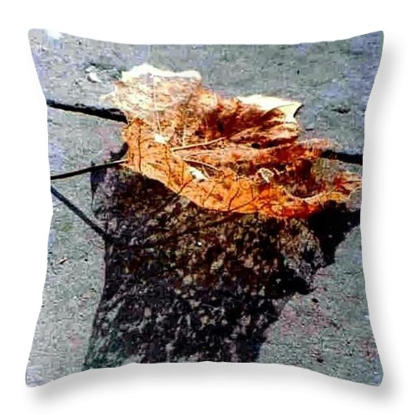 Leaf Lace Throw Pillow by Michael Hoard