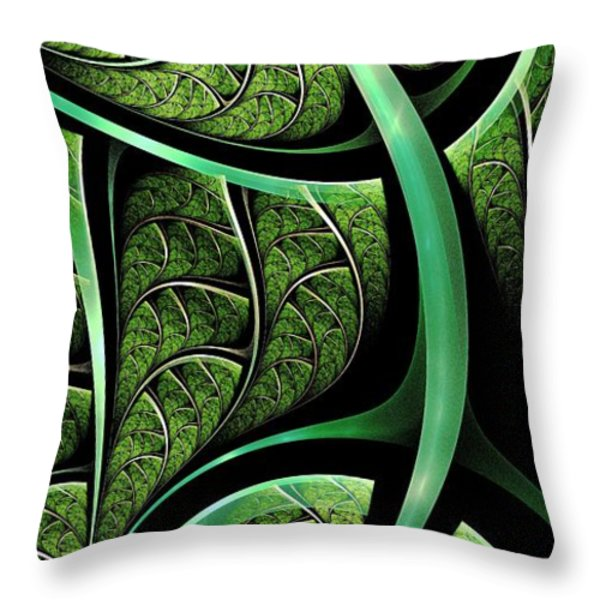 Leaf Texture Throw Pillow by Anastasiya Malakhova