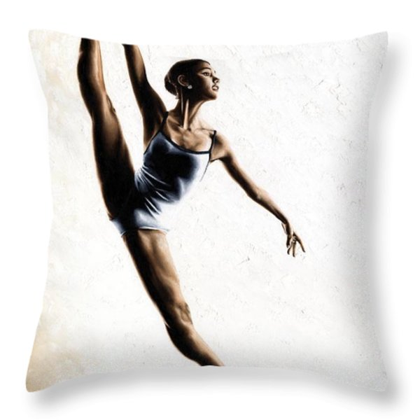 Leap Of Faith Throw Pillow by Richard Young