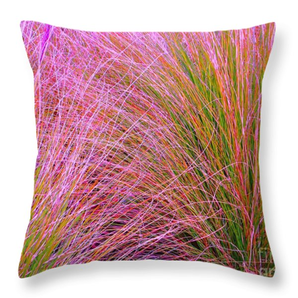 Leaves Of Grass Throw Pillow by Ann Johndro-Collins