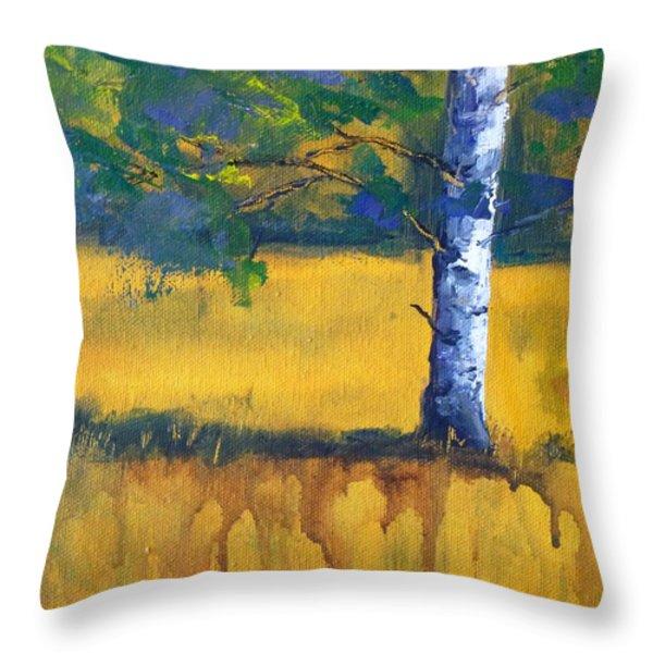 Leaving A Shadow Throw Pillow by Nancy Merkle