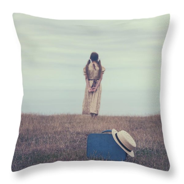 Leaving The Past Behind Me Throw Pillow by Joana Kruse
