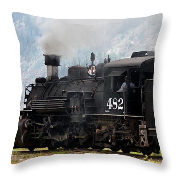 Leaving Town Throw Pillow by Ernie Echols