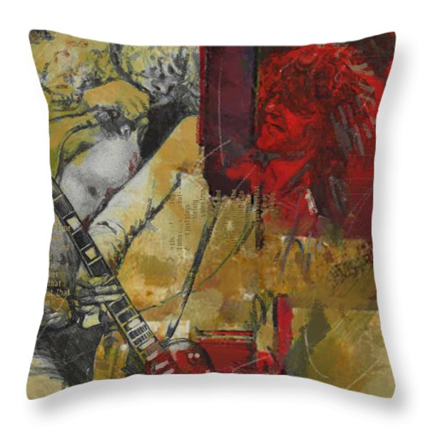 Led Zeppelin Throw Pillow by Corporate Art Task Force