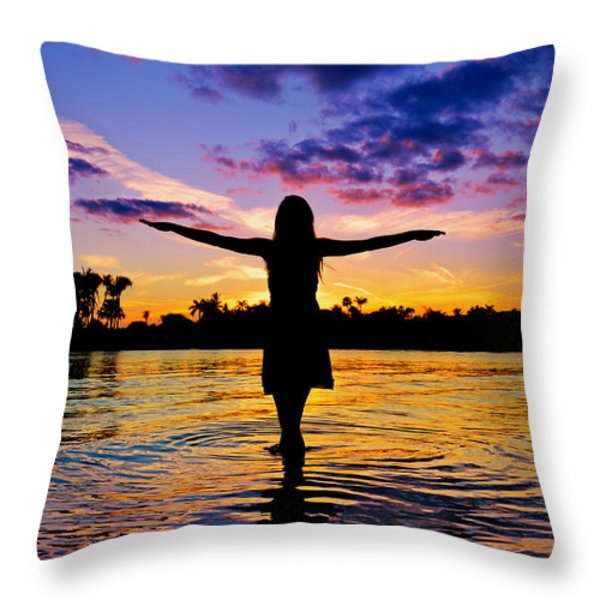 Legend Throw Pillow by Laura Fasulo