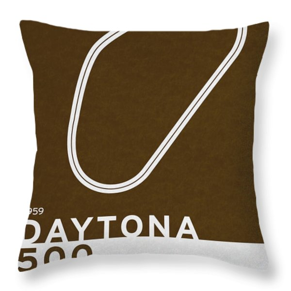 Legendary Races - 1959 Daytona 500 Throw Pillow by Chungkong Art