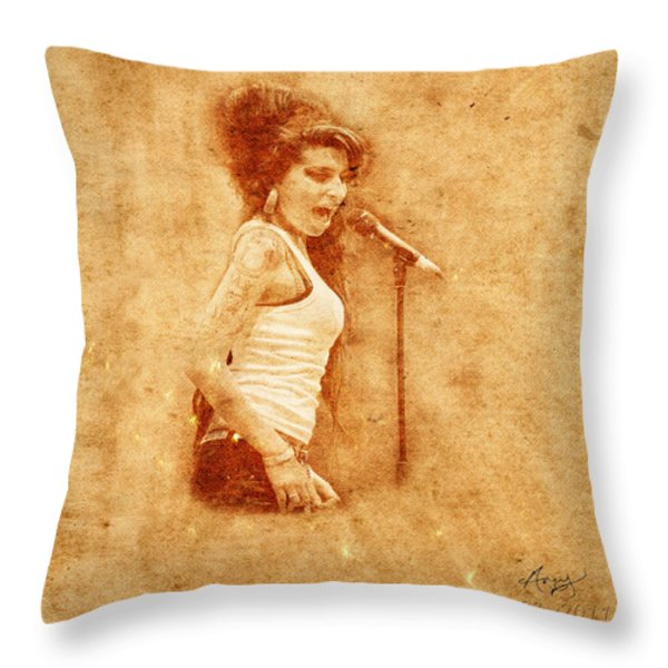 Legends 7 Throw Pillow by Andrew Fare