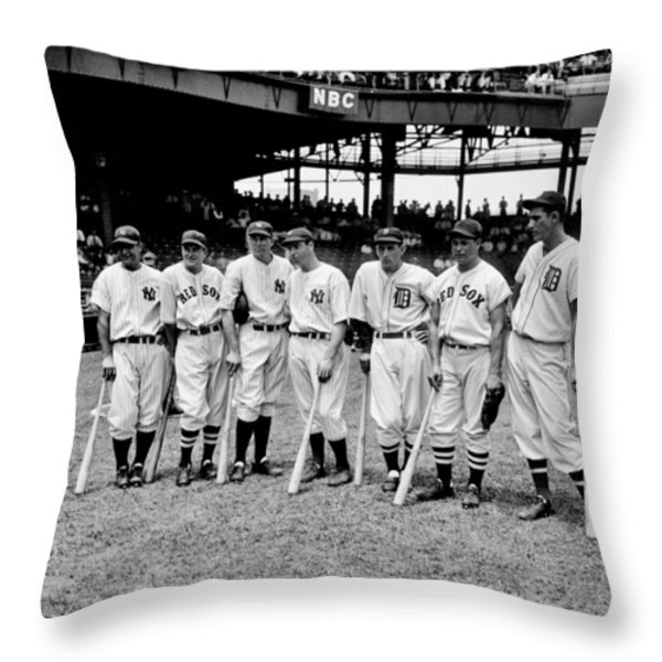 Legends Throw Pillow by Benjamin Yeager