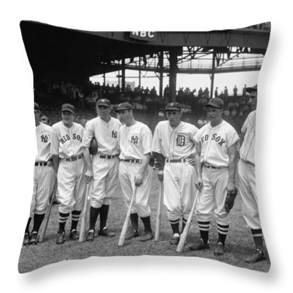 Legends Row Throw Pillow by Mountain Dreams