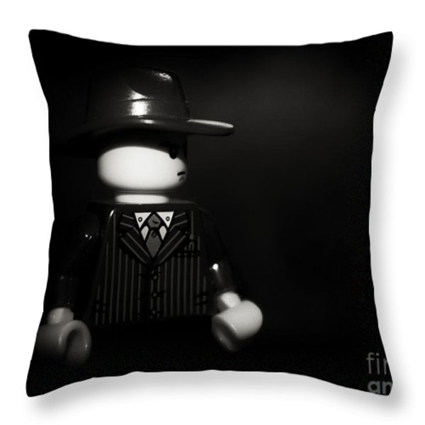 Lego Film Noir 1 Throw Pillow by Cinema Photography