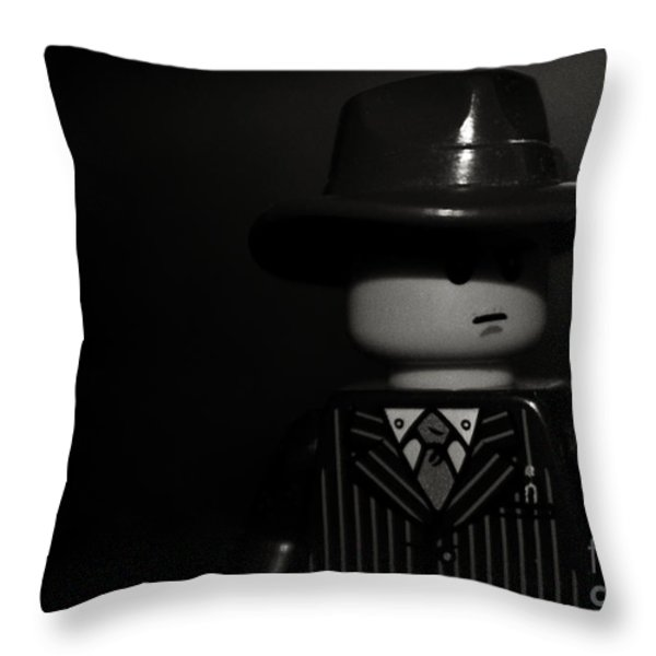 Lego Film Noir II Throw Pillow by Cinema Photography