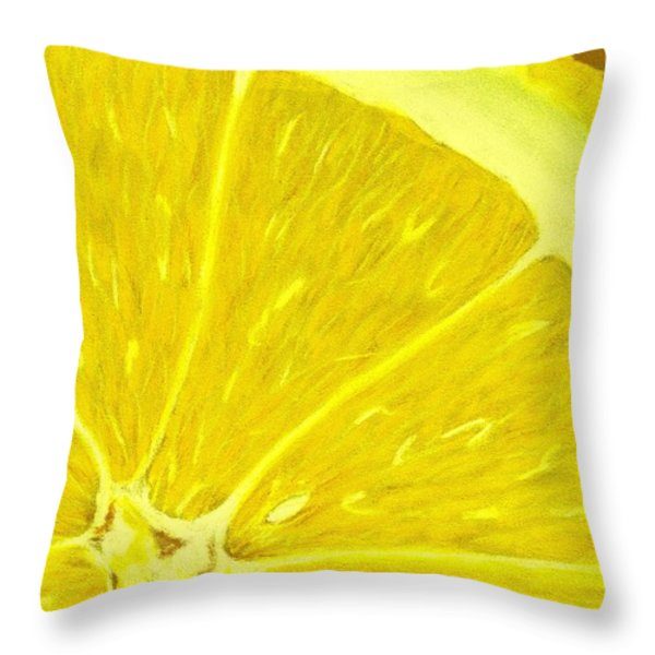 Lemon Throw Pillow by Anastasiya Malakhova