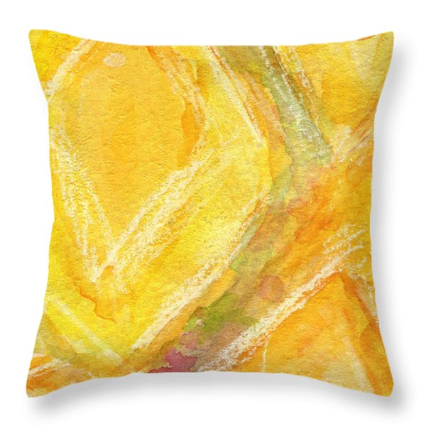Lemon Drops Throw Pillow by Linda Woods