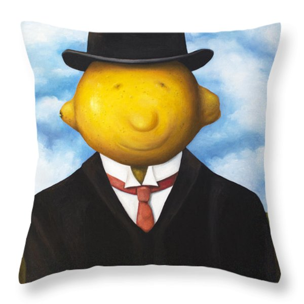 Lemon Head Throw Pillow by Leah Saulnier The Painting Maniac