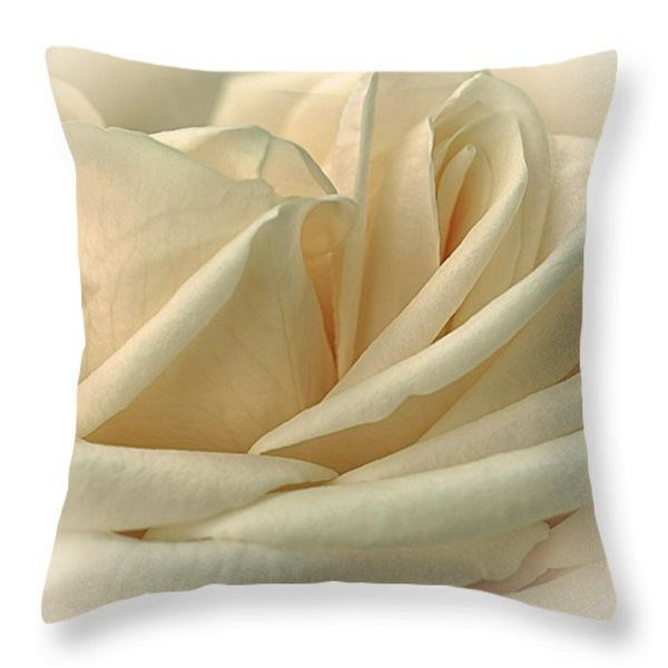 Lemon Meringue Throw Pillow by Darlene Kwiatkowski