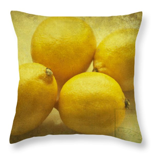 Lemons Throw Pillow by Nomad Art And  Design