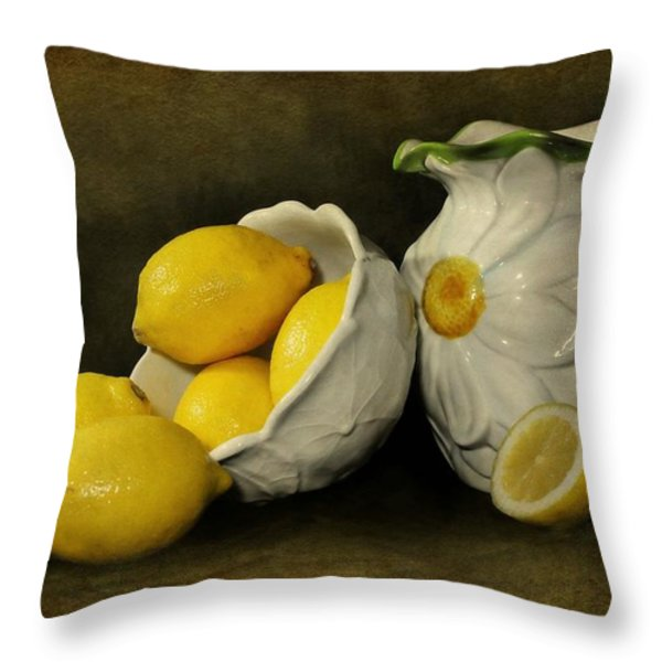 Lemons Today Throw Pillow by Diana Angstadt