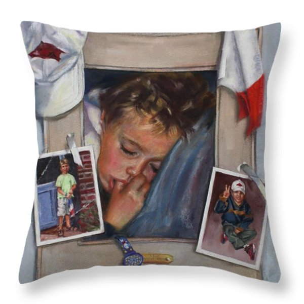 Leo Throw Pillow by Vicki Ross