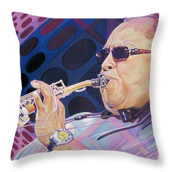 Leroi Moore Throw Pillow by Joshua Morton