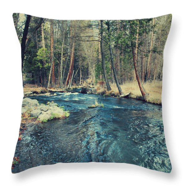 Let It All Go Throw Pillow by Laurie Search