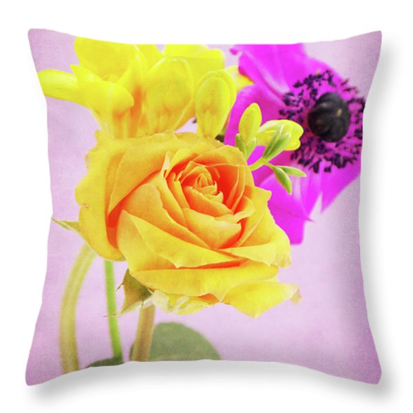 Let It Be... Throw Pillow by Angela Doelling AD DESIGN Photo and PhotoArt
