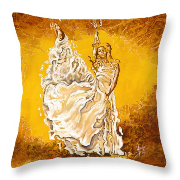 Let It Be Peace In My Soul Throw Pillow by Karina Llergo Salto