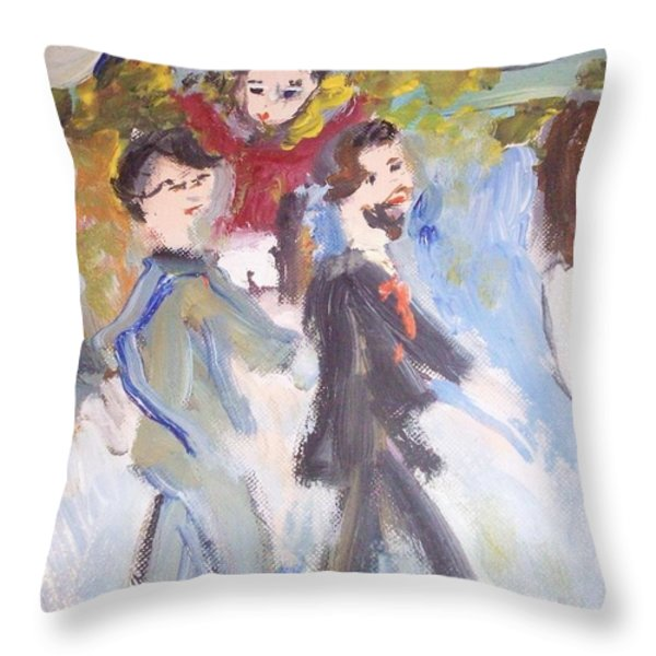 Let Me Take You There Throw Pillow by Judith Desrosiers