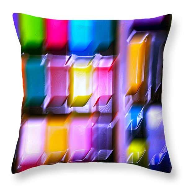 Let Play Happen Throw Pillow by Gwyn Newcombe