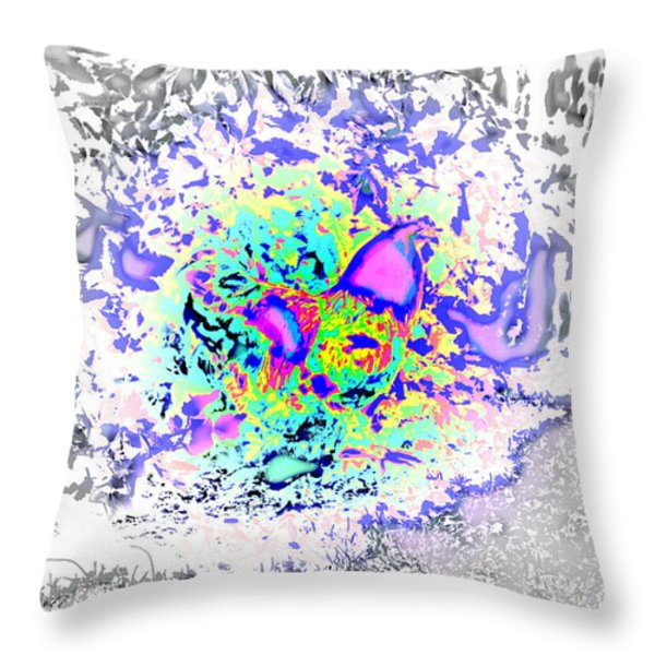 let the fight begin Throw Pillow by Hilde Widerberg