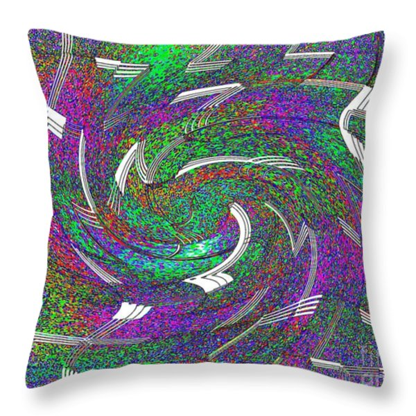 Let The Music Play Abstract Art Throw Pillow by Annie Zeno