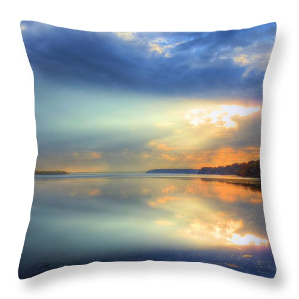 Let There Be Light Throw Pillow by JC Findley